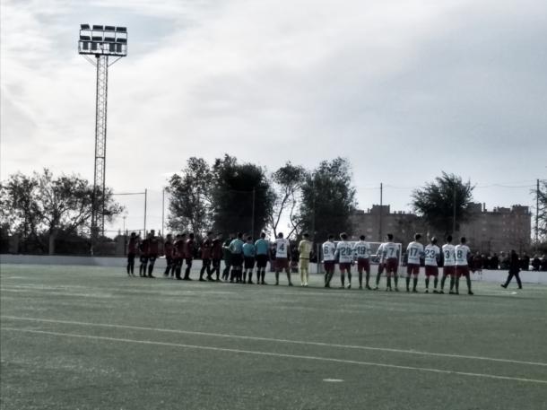 Tras el empate cosechado hoy por ambos equipos, el Trival sigue tercero y el RCD Carabanchel se mantiene en la zona media de la tabla. Fotografía: Francisco Nieto.