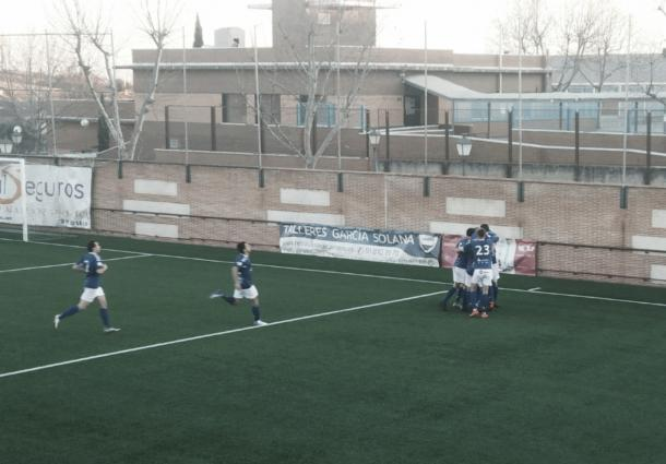 La RSD Alcalá venció 0-1 al CDA Navalcarnero, el líder de la categoría, en su propio estadio. Foto: Twitter de la RSD Alcalá.