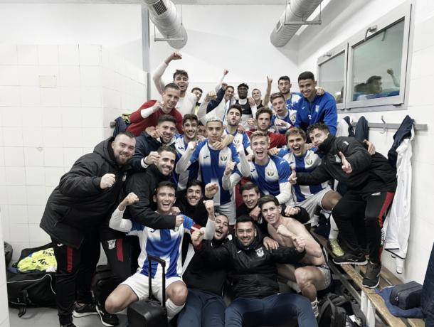 El CD Leganés B venció 3-4 a la ED Moratalaz en el partido con más goles de la jornada. Foto: Twitter de Cantera Pepinera.