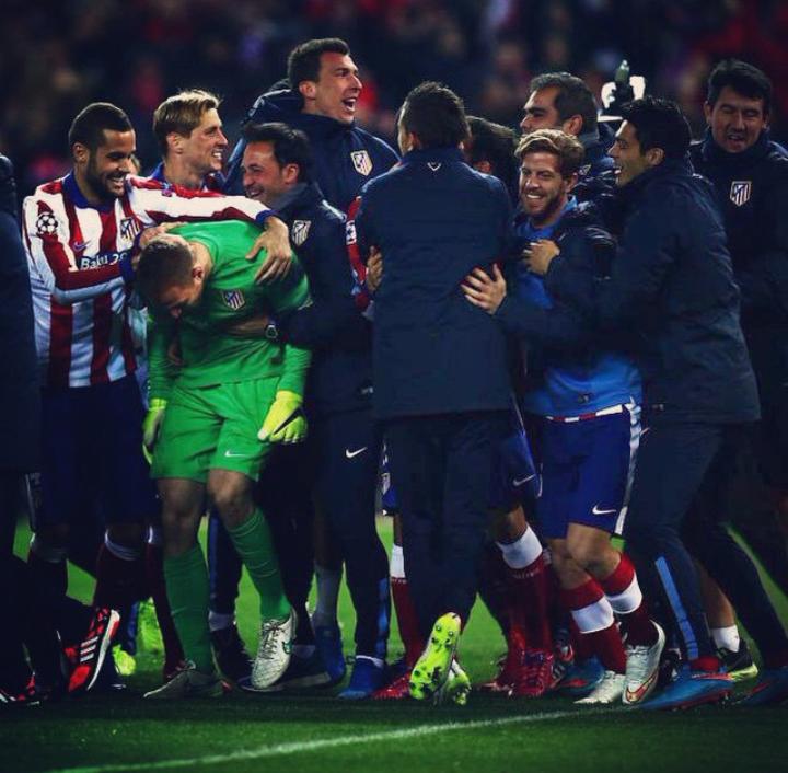 Oblak celebrando la clasificación a los cuartos de final. /Instagram: Jan Oblak oficial