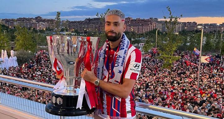 Yannick Ferreira Carrasco se consagró campeón de la temporada 20/21 con el Atlético de Madrid. /Instagram: Yannick Ferreira Carrasco oficial