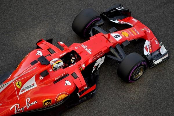 Ferrari de Sebastian Vettel. Fuente: Getty Images