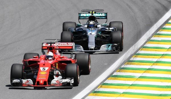 Vettel salía por poco delante de Bottas después de las paradas / Fuente: AFP