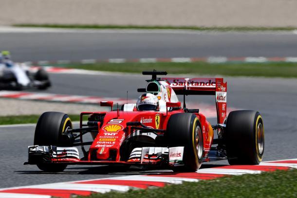 Sebastian Vettel durante el GP de España   Fuente: Getty Images