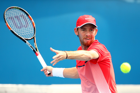 Dudi Sela of Israel plays a forehand in his second round match against Fernando Verdasco of Spain during day four of the 2016 Australian Open at Melbourne Park on January 21, 2016 in Melbourne, Australia. (Photo by Scott Barbour/Getty Images)