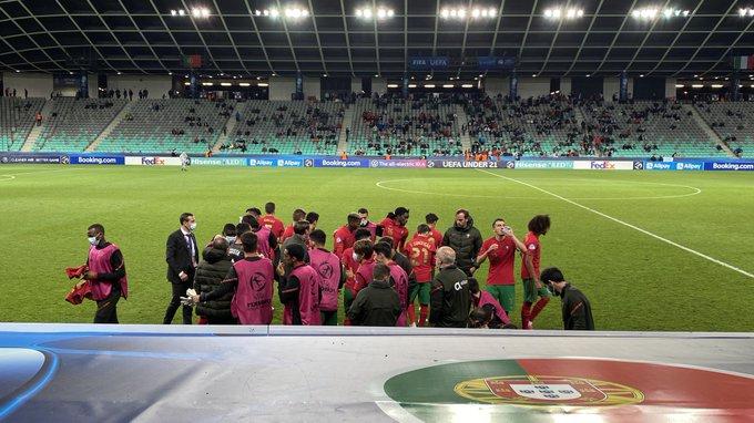 Foto de la selección portuguesa, Portugal sub 21 vs Italia sub 21 // Fuente: Selección de Portugal