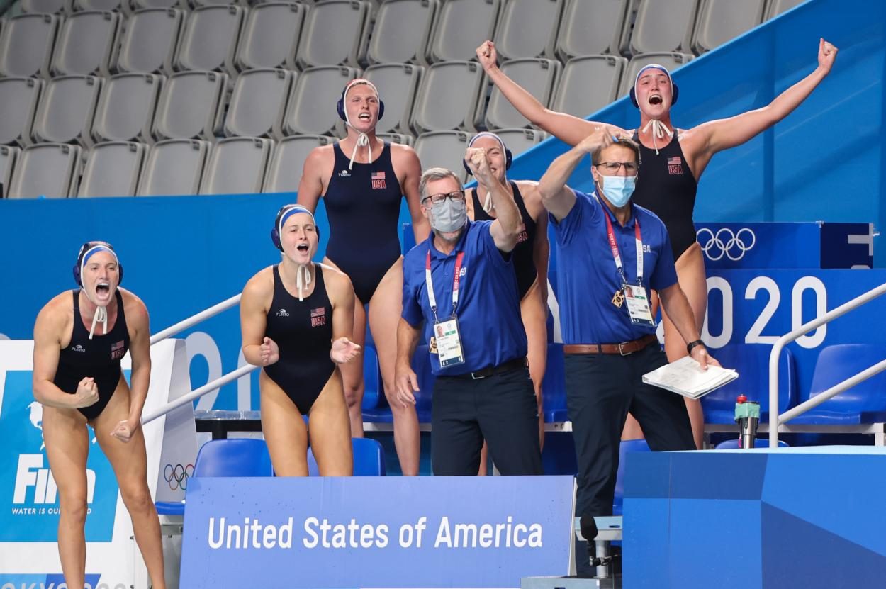 U.S. women's Waterpolo team at the Olympics // Source: U.S. Women's WaterPolo Team
