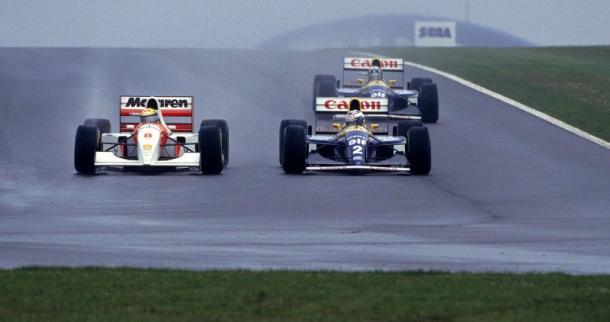 Il sorpasso al primo giro di Senna su Prost