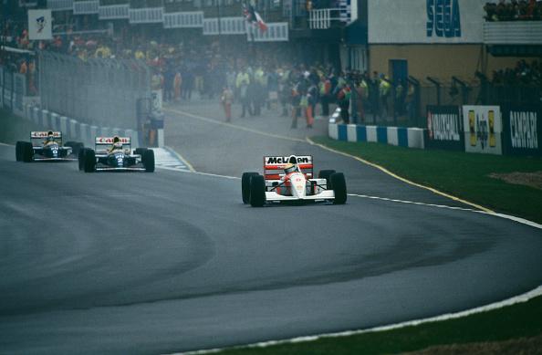 Ayrton Senna deu show e conseguiu uma de suas vitórias mais apoteóticas no GP da Europa de 1993 (Foto: Rainer W. Schlegelmilch/Getty Images)