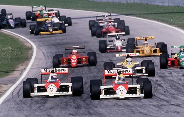 Il sorpasso della discordia di Senna su Prost