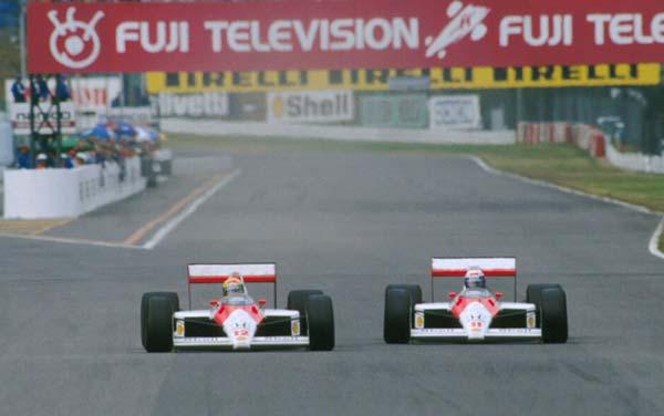 Senna passa Prost e va a vincere il titolo