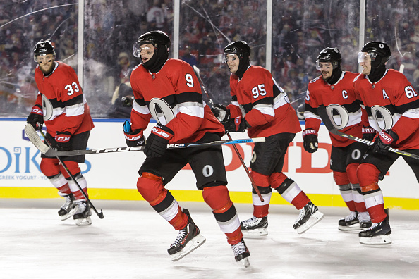 The Ottawa Senators came out on top 3-0 in the NHL 100 Classic on December 16, 2017. (Photo: Getty Images)