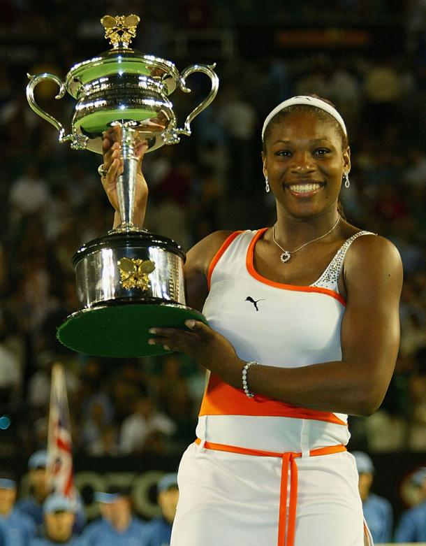 Williams won her fourth consecutive major at the 2003 Australian Open. Photo: NBC Sports