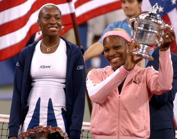Serena beat Venus to win the US Open in 2002. Photo: Richard Drew/AP