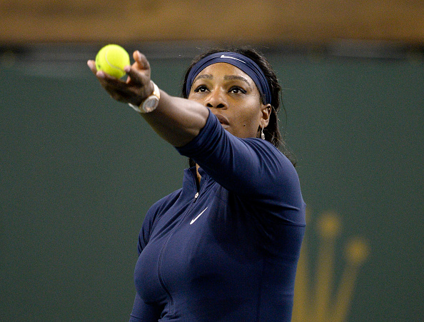 Serena Williams back in action in Indian Wells (Photo: Getty Images/Kevork Djansezian)
