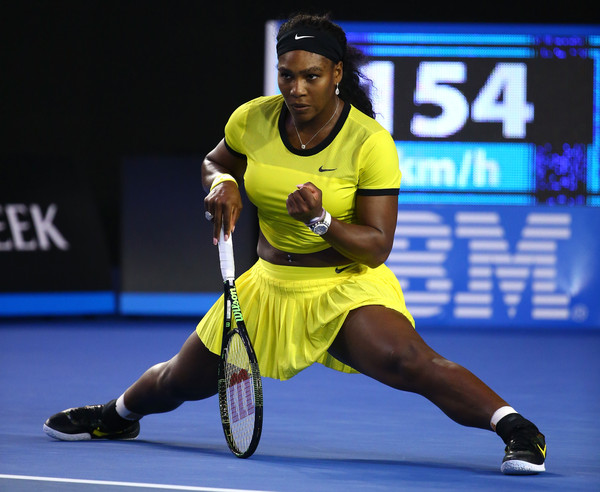 Serena Williams celebrates after winning a point against Angelique Kerber during the 2016 Australian Open final. | Photo: Quinn Rooney/Getty Images