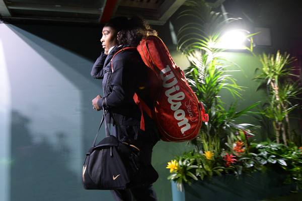 Serena Williams prepares to walk out onto the court for her first match in 14 months | Photo: Kevork Djansezian/Getty Images North America