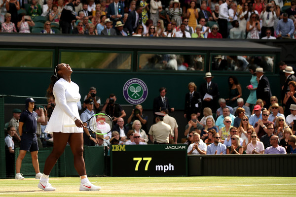 Serena Williams celebrates her terrific win | Photo: Julian Finney/Getty Images Europe