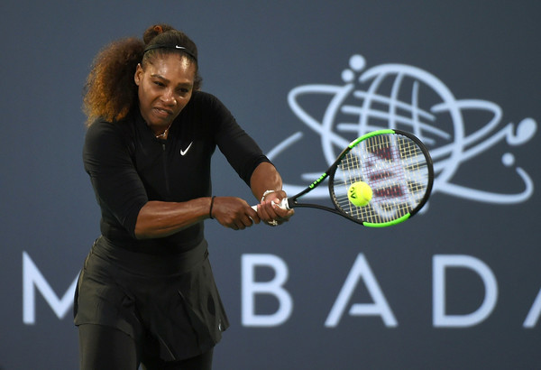 Serena Williams looked to have a gauge of her own playing level in this match | Photo: Tom Dulat/Getty Images Europe