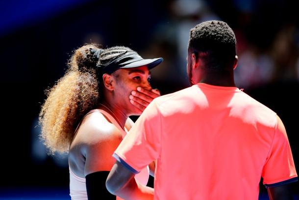 Serena venceu todas as suas partidas em simples, mas Tiafoe não conseguiu sair vencedor nenhuma vez que esteve em quadra (Foto: Divulgação/Hopman Cup)
