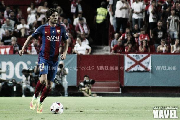 Sergi Roberto, titular con el Barcelona | Foto: Juan Ignacio Lechuga - VAVEL