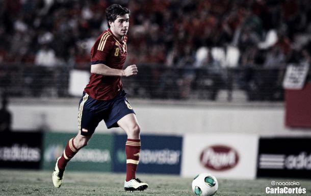 Sergi Roberto con la camiseta de la selección. | Foto: Carla Cortés (VAVEL.com).
