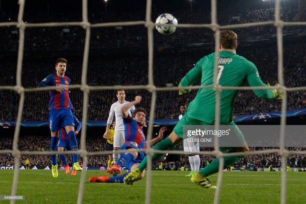 El momento del gol que significó la remontada. Foto: Getty images.