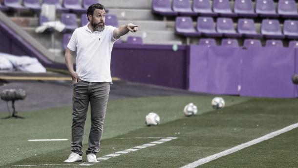 Sergio González en el encuentro ante el RC Celta de la temporada pasada / Foto: realvalladolid.es