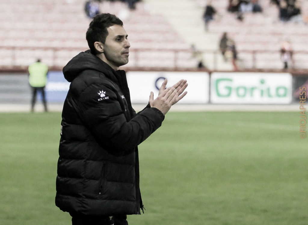 Sergio Rodríguez, técnico Ud Logroñés. / Foto: UD Logroñés
