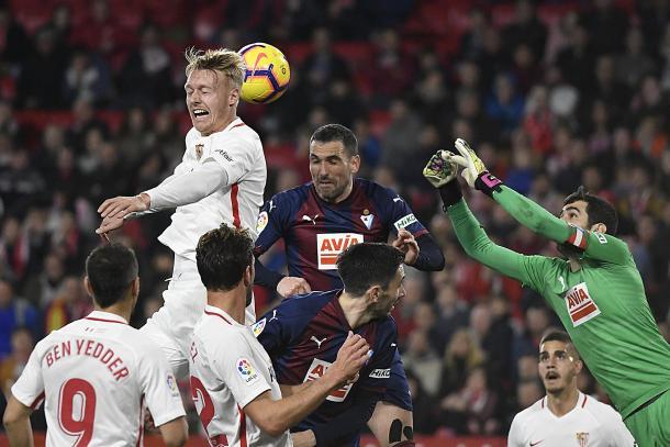 El último Sevilla - Eibar fue un partido muy disputado y repleto de polémica. Foto: sevillafc.es