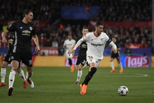 Imagen del último Sevilla - Manchester United. Foto: sevillafc.es