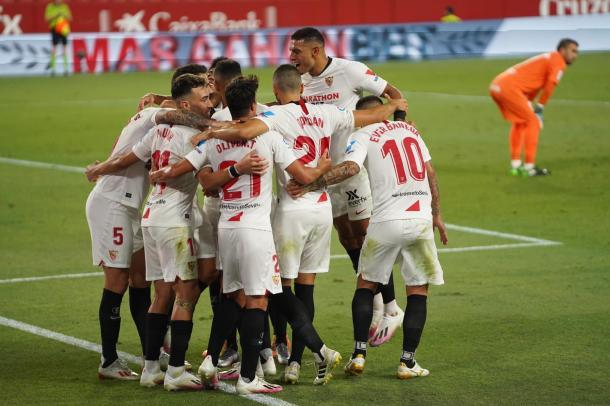 El partido del Sevilla FC ante la Roma fue perfecto. Foto: sevillafc.es