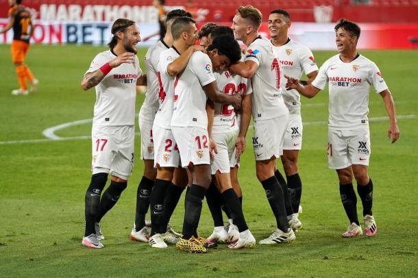 El Sevilla FC es un equipo unido. Foto: sevillafc.es