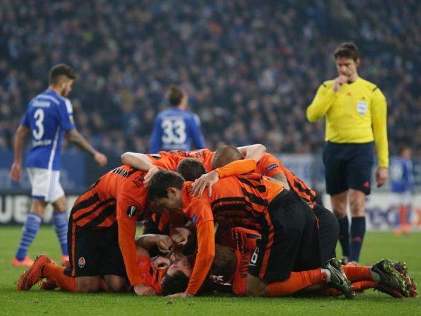 Shakhtar celebrate. | Image source: kicker - Getty Images
