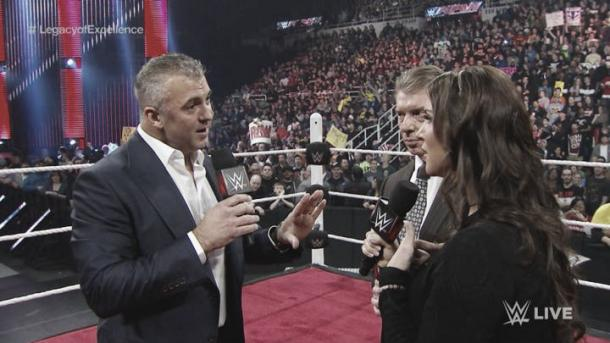 Shane McMahon returned to Monday night raw with a huge 'pop' from the crowd (image: therollingstone.com)