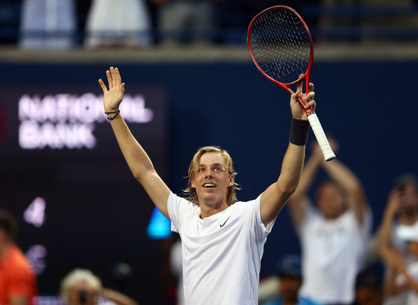 Shapovalov rallied to reach the third round for the second year in a row on home soil. Photo: Getty Images