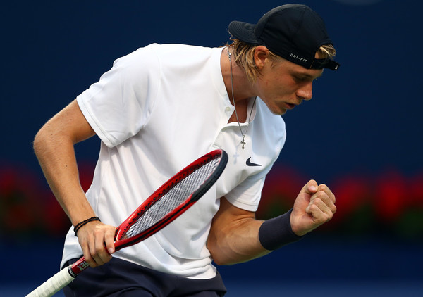 Shapovalov had to stay super focused during the comeback against Fognini. Photo: Getty Images