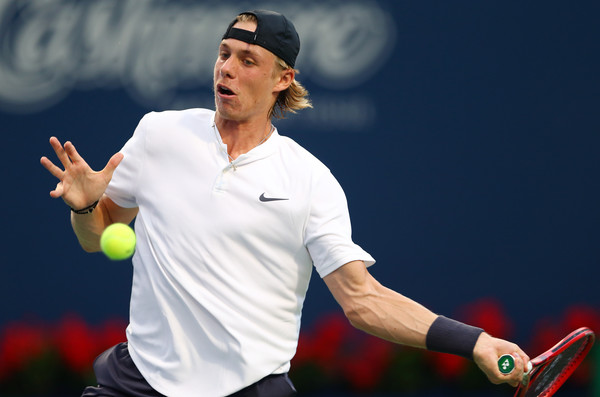 Denis Shapovalov lines up a forehand in Toronto. Photo: Getty Images