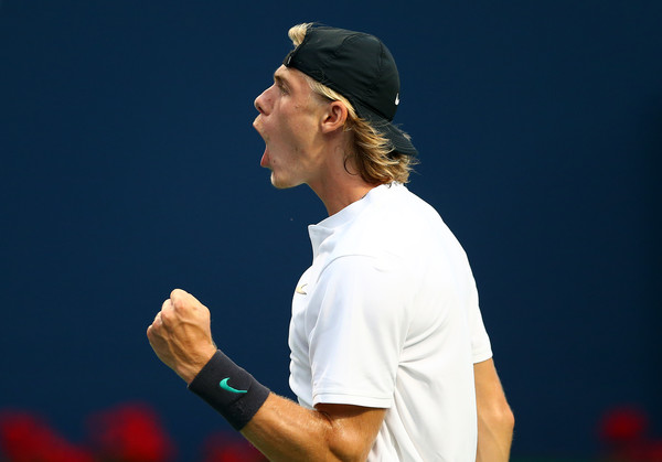 Shapovalov always uses the crowd to his advantage, even a smaller crown on an outside court. Photo: Getty Images