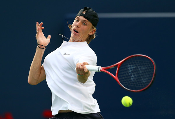 Denis Shapovalov struggled a lot with finding his spots during the round three loss. Photo: Getty Images