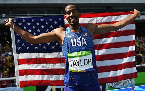 Christian Taylor after winning Olympic gold last summer (Getty/Shaun Botterill)