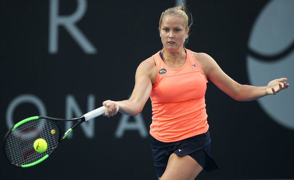 Shelby Rogers in action last week at Hobart | Photo: Mark Metcalfe/Getty Images AsiaPac