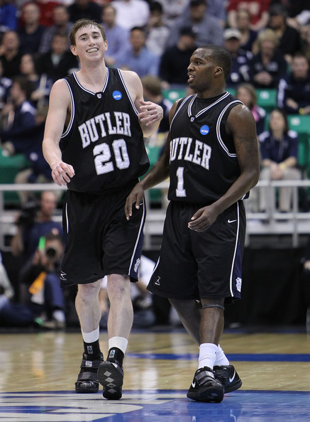 Mack played with Jazz teammate Gordon Hayward while at Butler chasing NCAA titles (Jed Jacobsohn/Getty Images).