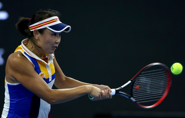 Peng Shuai in action at the China Open | Photo: Emmanuel Wong/Getty Images AsiaPac