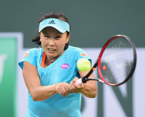 Peng Shuai in action at the BNP Paribas Open | Photo: Harry How/Getty Images North America