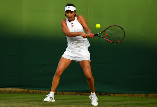 Peng Shuai in action at the Wimbledon Championships | Photo: David Ramos/Getty Images Europe