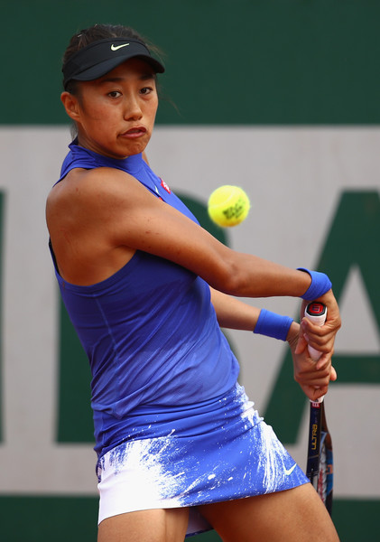 Zhang Shuai in action | Photo: Clive Brunskill/Getty Images Europe