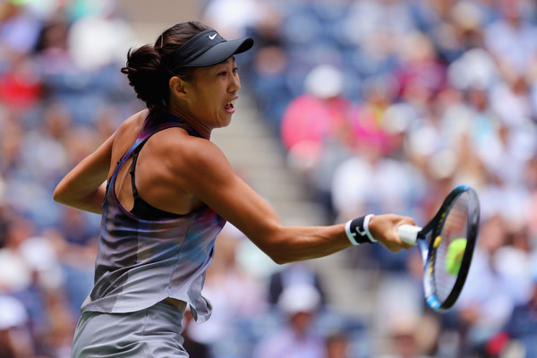 Zhang Shuai took the early lead in the final set, but failed to capitalize on her chances | Photo: Richard Heathcote/Getty Images North America