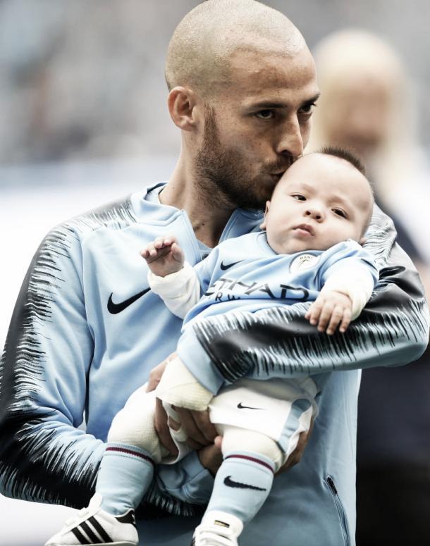 David Silva y su hijo | Twitter Manchester City