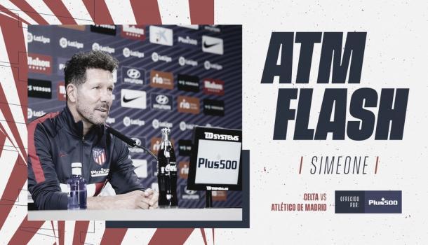 Diego Pablo Simeone en la rueda de prensa previa al partido frente al RC Celta / Foto: atleticodemadrid.com